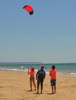 aula de baptismo de kitesurf