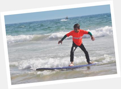 actividades de verão para crianças, aulas de surf